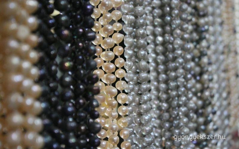 Gyöngyfajták – igazgyöngy, tenyésztett gyöngy, teklagyöngy