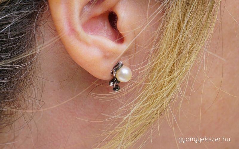 Különleges gyöngy fülbevaló